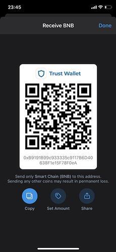 Crypto wallet address