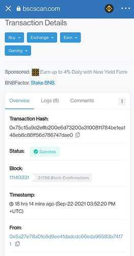 Transaction Hash details