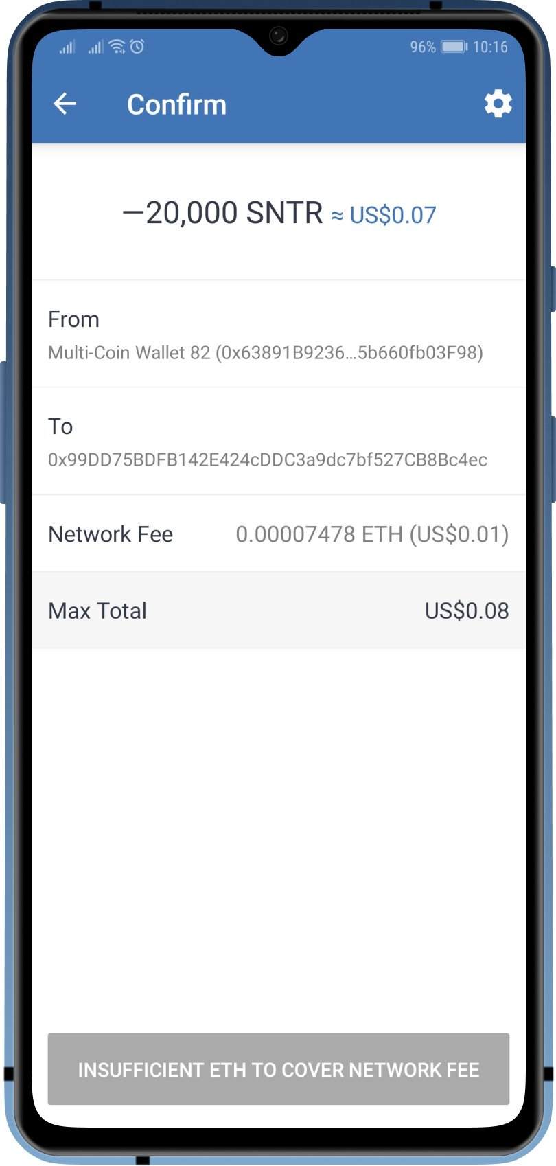 cryptocurrency wallet fee