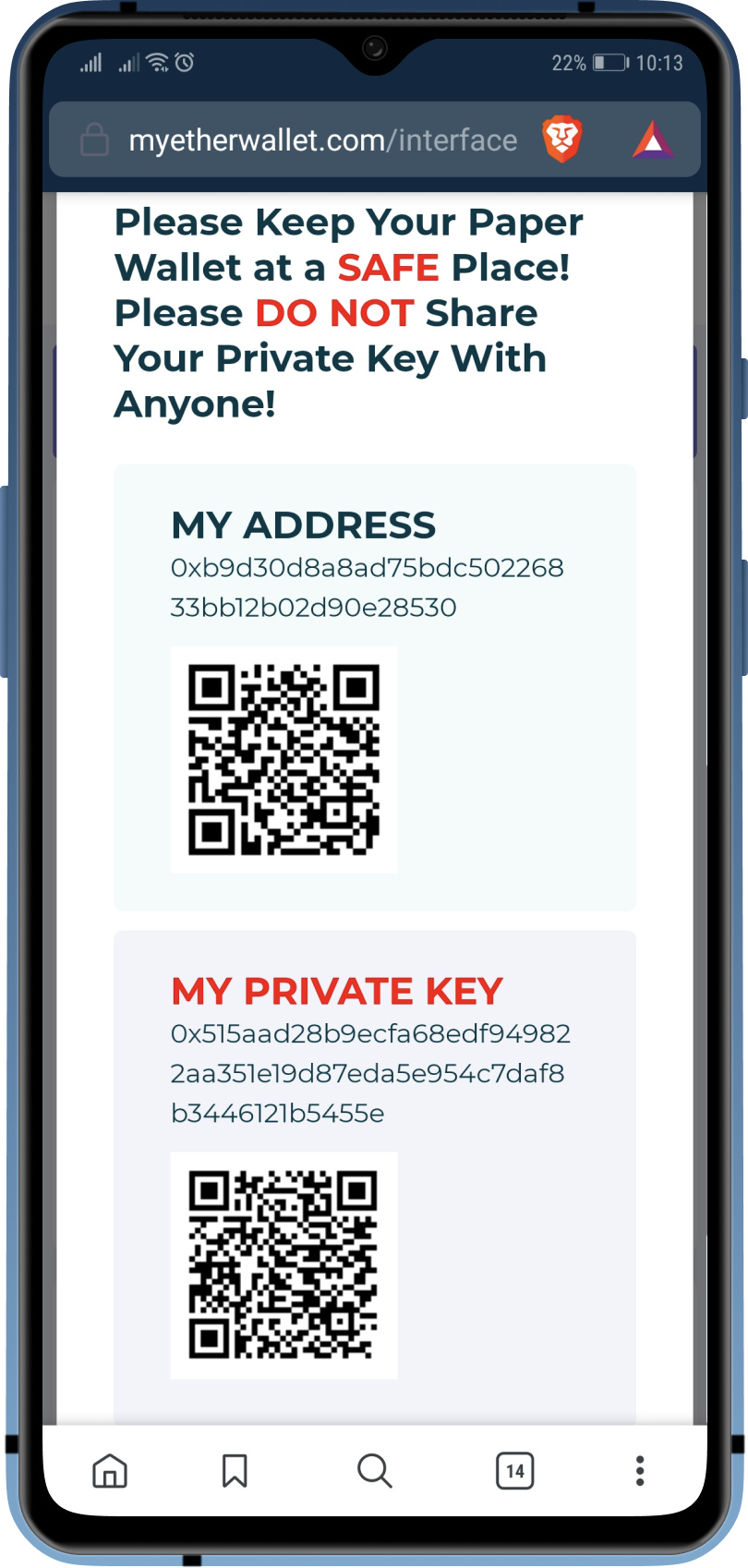 Leaked ethereum private keys