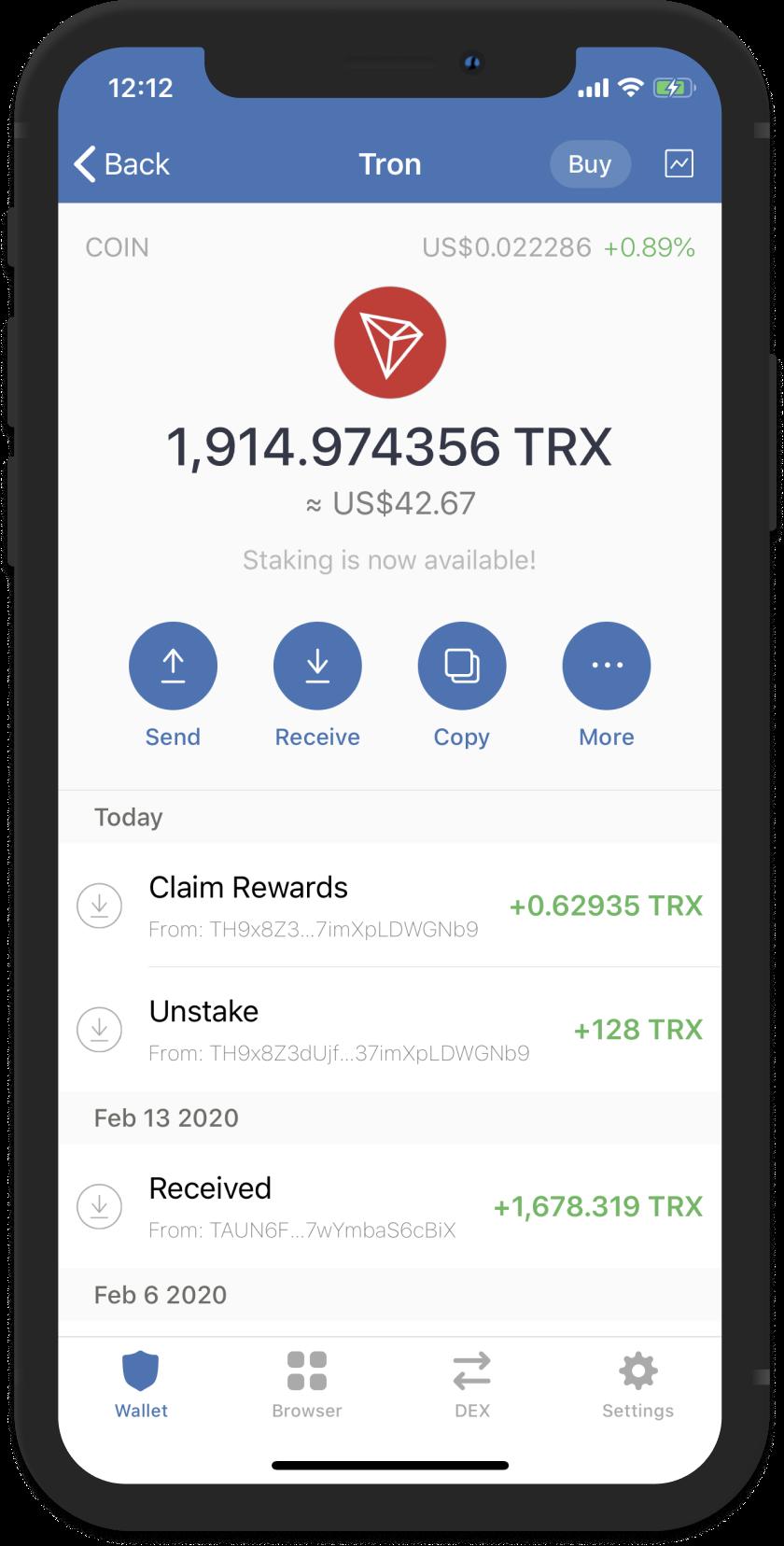tron cryptocurrency desktop wallet