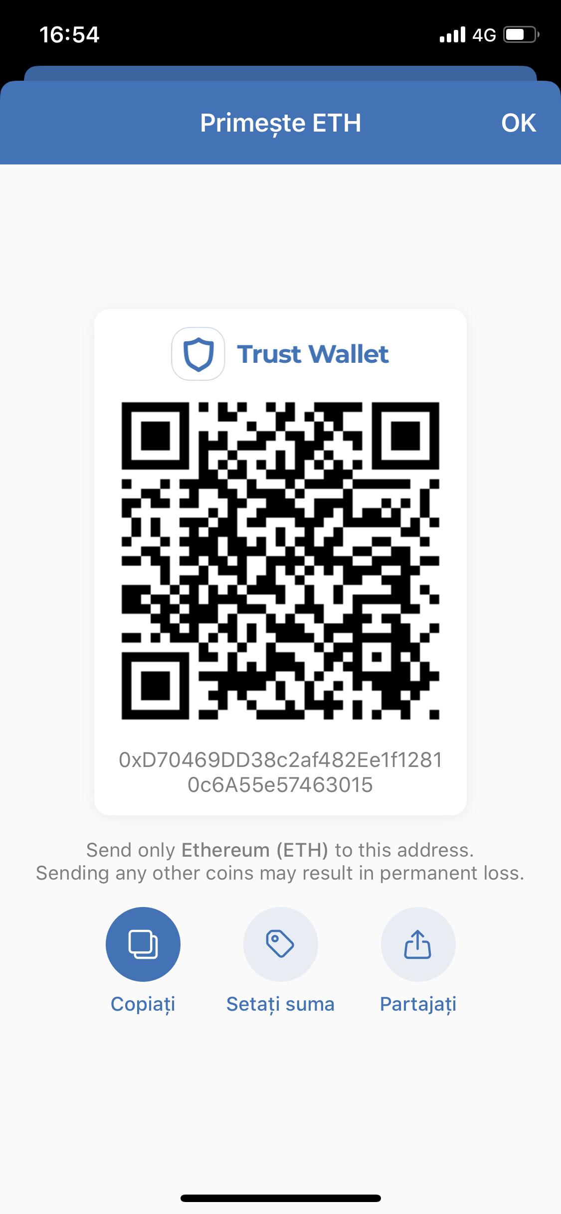 Transferred Binance Peg Ethereum Bep20 To Ethereum Eth Address English Trust Wallet